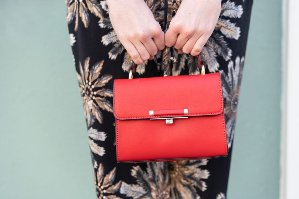 Red Leather Top Shop Mini Purse | Transition to Fall | Life With Ashley T