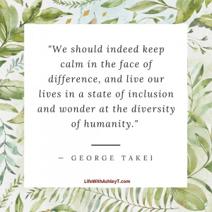 George Takai quote on accepting diversity