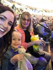 Family Waiting for Disney on Ice