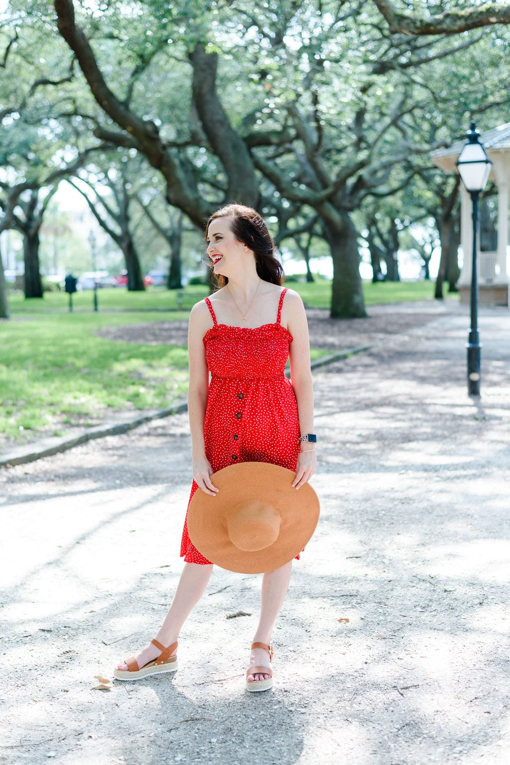 Ashley T in White Point Gardens Downtown | Charleston Blogger
