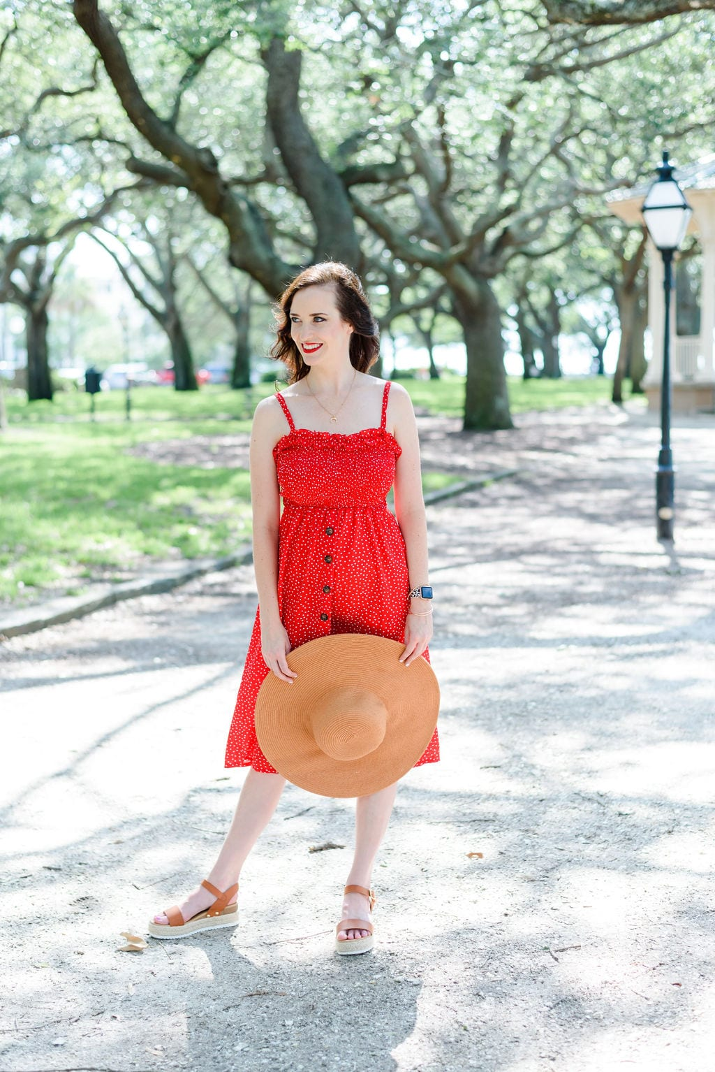 Ashley T, Charleston Blogger, at White Point Gardens downtown Charleston