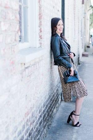 black-leather-jacket-flowy-midi-skirt-leopard